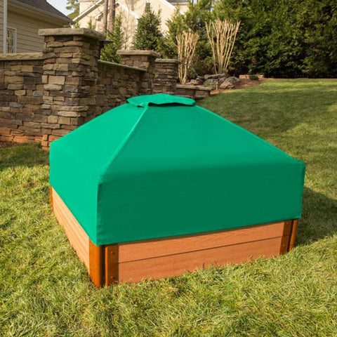 Frame It All Square Sandbox 2in 4x4ft 2 Level c/w Telescoping Canopy/Cover