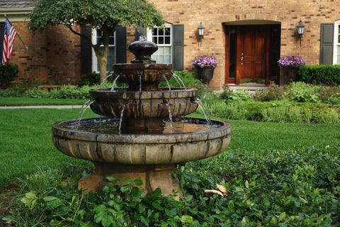 Image of Large Regal Tier Fountain By Henri Studio Life on Plum