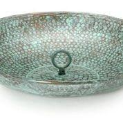 Rain Chain Basin - Blue Verde Copper by Good Directions Life on Plum