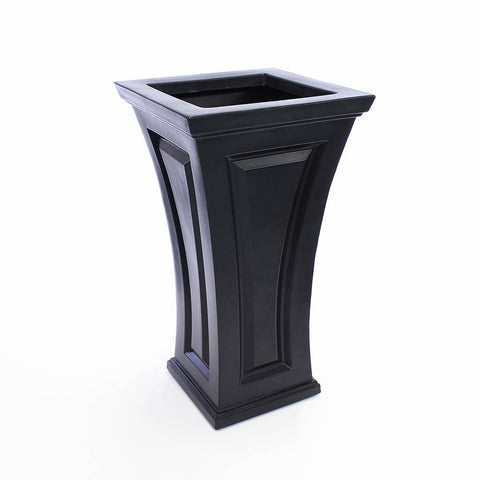 Image of Cambridge Tall Planter Black By Mayne