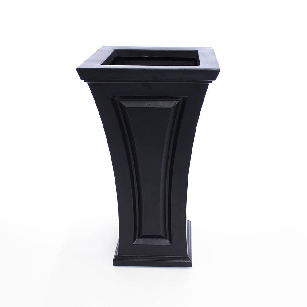 Cambridge Tall Planter Black By Mayne