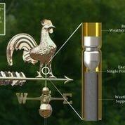Rooster Weathervane - Polished Copper by Good Directions Life on Plum