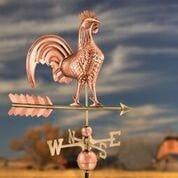 Rooster Weathervane - Polished Copper by Good Directions