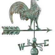 Rooster Weathervane - Blue Verde Copper by Good Directions Life on Plum
