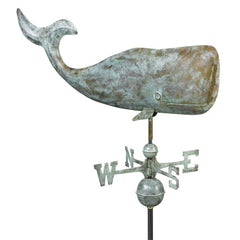 "37"" Whale Weathervane - Blue Verde Copper by Good Directions-Life on Plum by Good Directions, Inc."