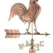 Large Rooster Weathervane - Polished Copper by Good Directions Life on Plum