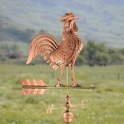 Large Rooster Weathervane - Polished Copper by Good Directions