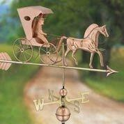 Country Doctor Weathervane with Arrow - Polished Copper by Good Directions Life on Plum