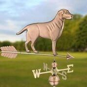 Labrador Retriever Weathervane with Arrow - Polished Copper by Good Directions Life on Plum