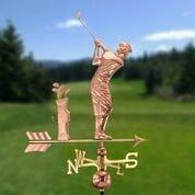 Golfer Weathervane - Polished Copper by Good Directions Life on Plum
