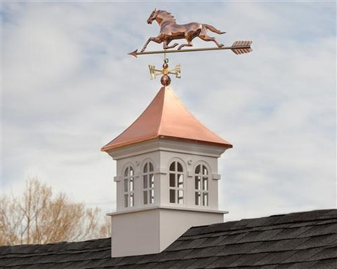 Horse Weathervane with Arrow - Polished Copper by Good Directions