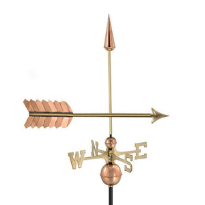 Arrow Weathervane - Polished Copper by Good Directions Life on Plum
