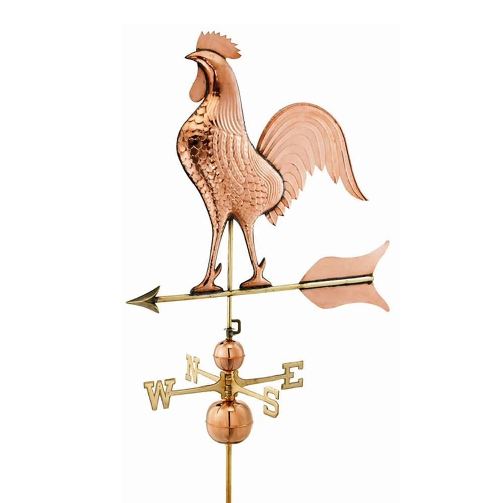 Barn Rooster Estate Weathervane - Polished Copper by Good Directions Life on Plum