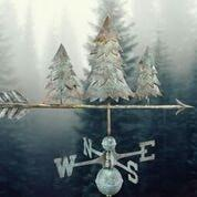 Pine Trees Weathervane - Blue Verde Copper by Good Directions Life on Plum