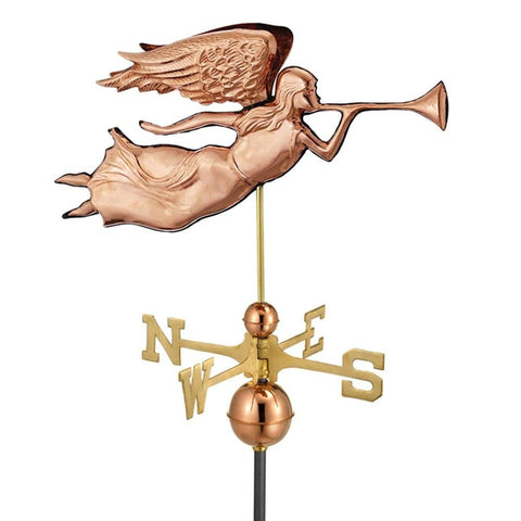 Image of Angel Weathervane - Polished Copper by Good Directions Life on Plum
