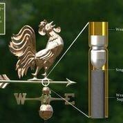 Crowing Rooster Weathervane - Polished Copper by Good Directions Life on Plum