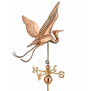 Blue Heron Estate Weathervane - Polished Copper by Good Directions Life on Plum