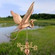 Image of Blue Heron Estate Weathervane - Polished Copper by Good Directions Life on Plum
