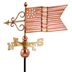 American Flag Weathervane - Polished Copper by Good Directions Life on Plum