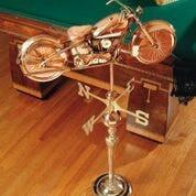 Motorcycle Weathervane - Polished Copper by Good Directions Life on Plum