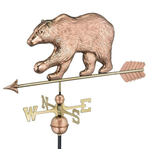 Bear Weathervane with Arrow - Polished Copper by Good Directions Life on Plum