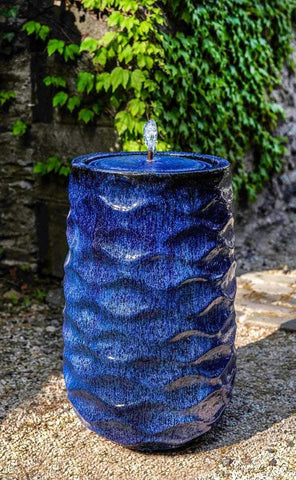 Campania International Tall Rumba Fountain-Riviera Blue