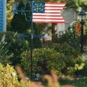 Americana Flag Garden Weathervane - w/Garden Pole by Good Directions