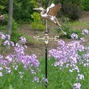 Image of Blue Heron Cottage Weathervane - Polished Copper w/Roof Mount by Good Directions Life on Plum