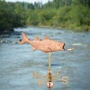 Bass with Lure Garden Weathervane - Polished Copper w/Garden Pole by Good Directions Life on Plum