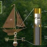 Racing Sloop Weathervane - Polished Copper by Good Directions