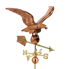 "34"" Smithsonian Eagle Estate Weathervane - Polished Copper by Good Directions Life on Plum"