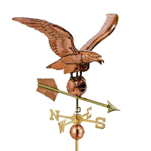 "Image of 34"" Smithsonian Eagle Estate Weathervane - Polished Copper by Good Directions Life on Plum"