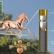 Image of Large Horse Estate Weathervane - Polished Copper by Good Directions Life on Plum