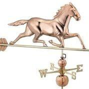 Large Horse Estate Weathervane - Polished Copper by Good Directions Life on Plum