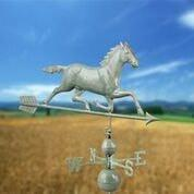 Large Horse Estate Weathervane - Blue Verde Copper by Good Directions Life on Plum