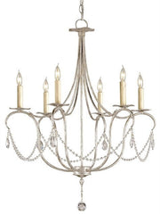 Crystal Lights Chandelier by Currey and Company-Life on Plum by Currey and Company
