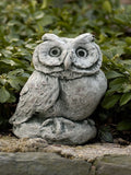 Campania International Merrie Little Owl Garden Statue-Life on Plum by Campania International