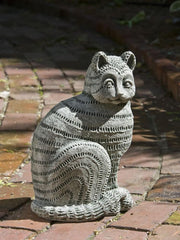Campania International Williamsburg Delft Cat Garden Statue The Garden Gates