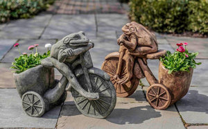 Campania International Tricycle Frog Planter