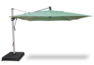 Treasure Garden 10 x 13 Ft Rectangle Cantilever Umbrella Life on Plum