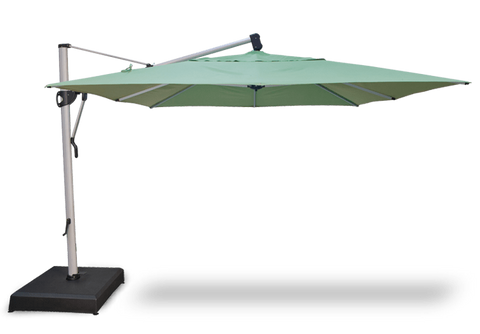 Image of Treasure Garden 10 x 13 Ft Rectangle Cantilever Umbrella Life on Plum