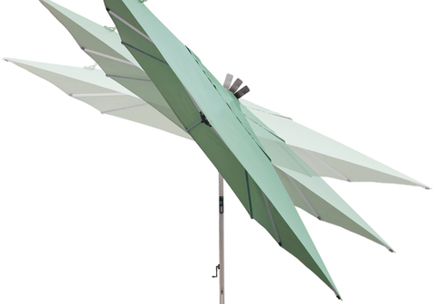 Treasure Garden 10 x 13 Ft Rectangle Cantilever Umbrella