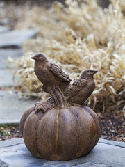 Campania International Birds on a Pumpkin Garden Statue The Garden Gates