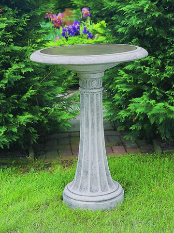 Image of Campania International Chestnut Hill Birdbath Life on Plum