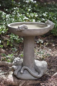 Campania International Catnap Birdbath Life on Plum