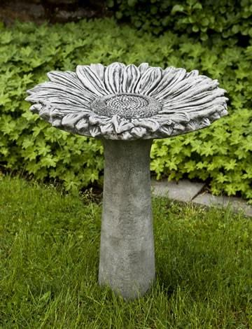 Campania International Sunflower Birdbath Life on Plum