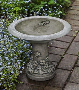 Campania International Spring Meadow Birdbath Life on Plum
