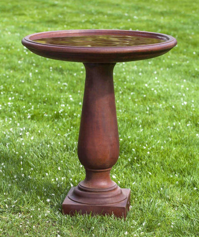 Image of Campania International Westbury Birdbath Life on Plum