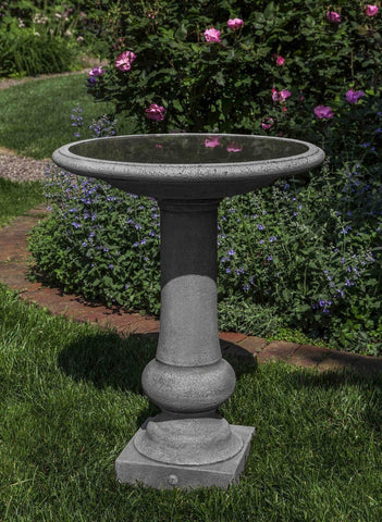 Campania International Williamsburg Boxwood Garden Birdbath Life on Plum