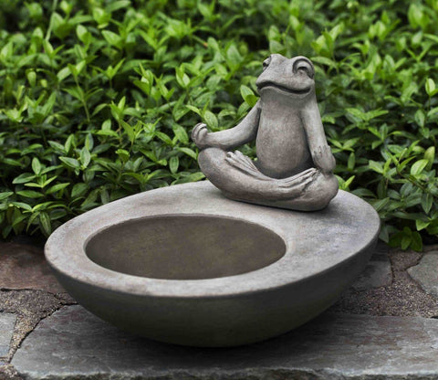 Image of Campania International Zen Element Birdbath Life on Plum